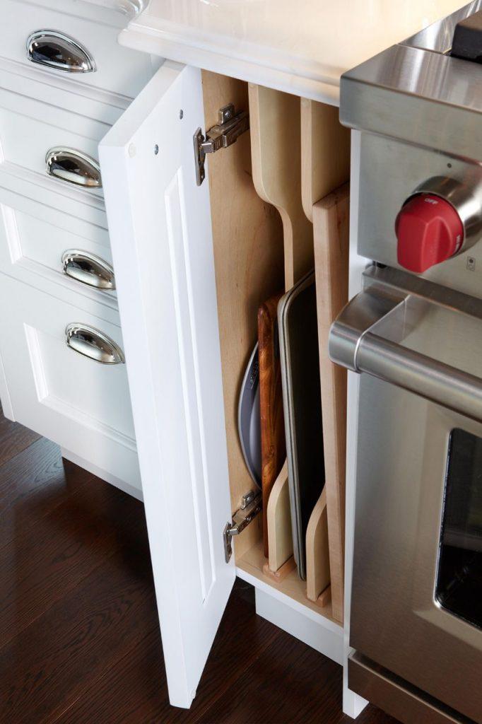 Trudno dostępne miejsce w małej kuchni