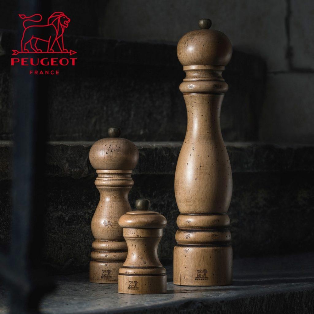 Drewniane młynki do pieprzu  Peugeot linia Antique